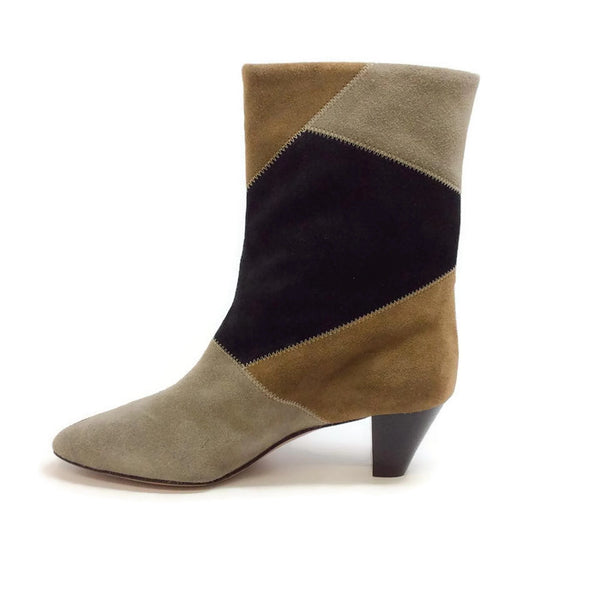 Dexton Black / Taupe Boots by Isabel Marant Étoile inside