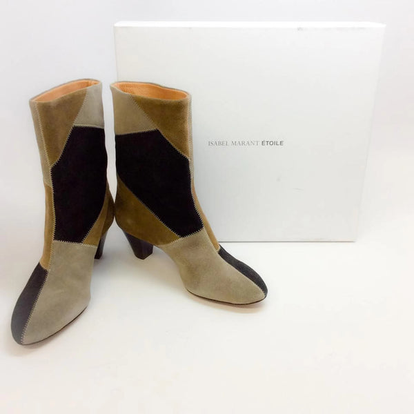 Dexton Black / Taupe Boots by Isabel Marant Étoile with box