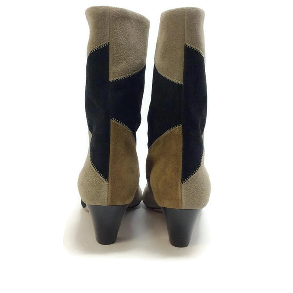 Dexton Black / Taupe Boots by Isabel Marant Étoile back