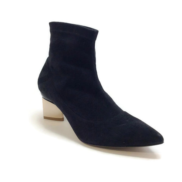 Stretch With Gold Heel Booties by Nicholas Kirkwood