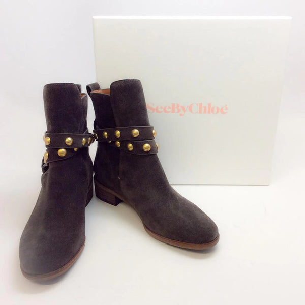 Sb27221 Brown Boots by See by Chloé with box