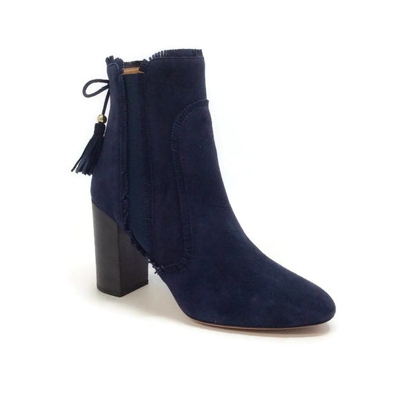 Tristan Ink Suede Boots by Aquazzura