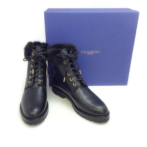 The Heilbrunner Black Boots by Aquazzura with box