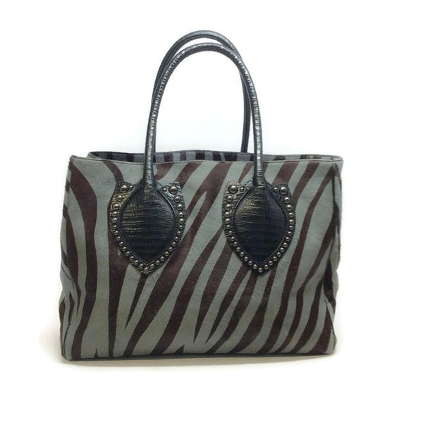 Zebra Hair Calf Tote by Alaïa