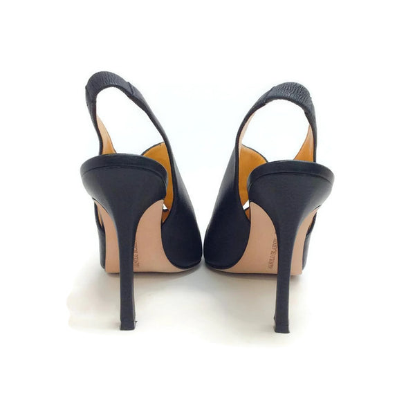 Button Slingback Black Pumps by Manolo Blahnik back