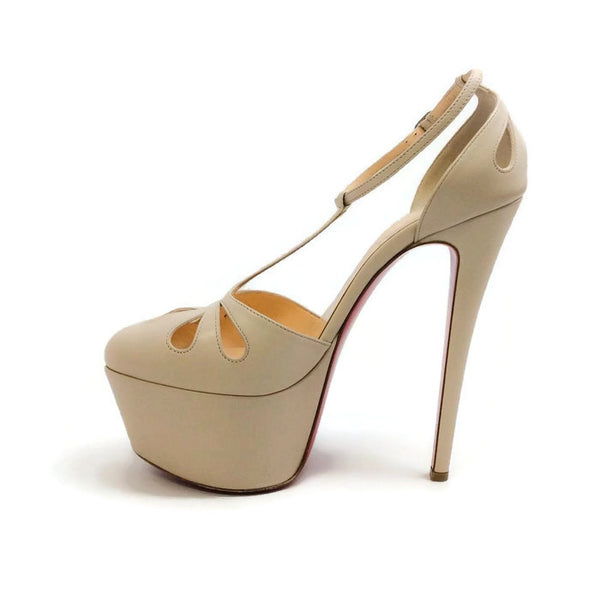 Amyada Nude Platforms by Christian Louboutin inside