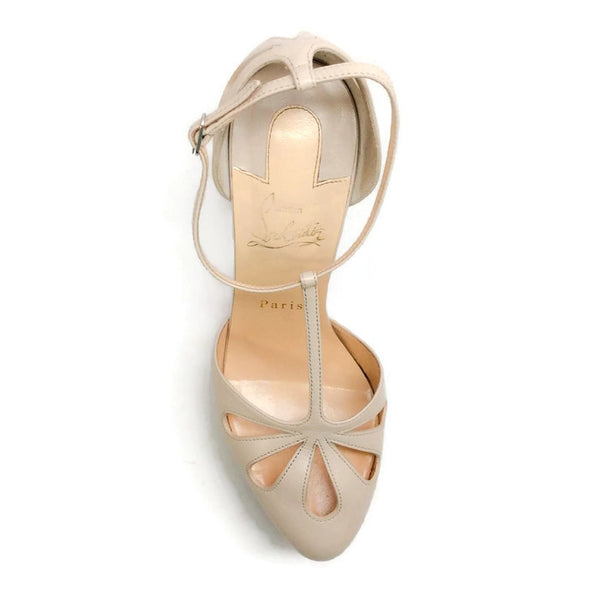 Amyada Nude Platforms by Christian Louboutin top
