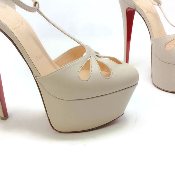 Amyada Nude Platforms by Christian Louboutin toe detail