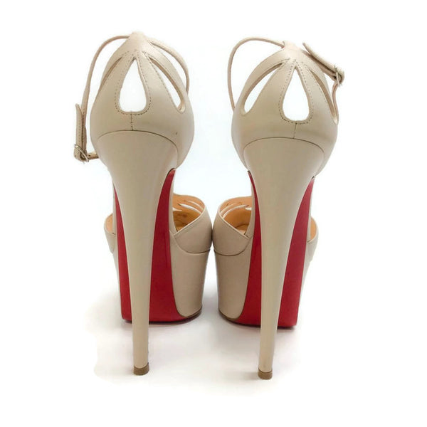 Amyada Nude Platforms by Christian Louboutin back