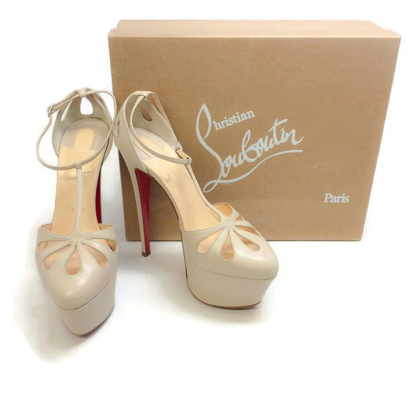Amyada Nude Platforms by Christian Louboutin with box