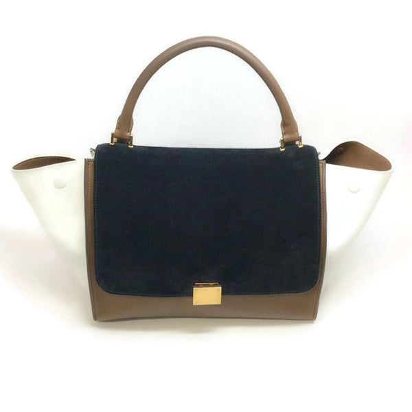 Trapeze With Strap Black / Brown Satchel by Céline