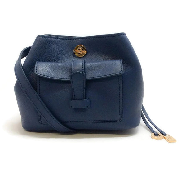 Mini Globe Bandouliere Blue Cross Body Bag by Loro Piana