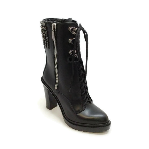 Biker Calf Rock And Roll Black Boots by Sergio Rossi