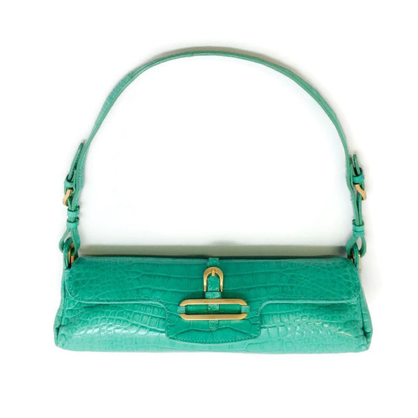 Small Flap Crocodile Shoulder Bag by Jimmy Choo