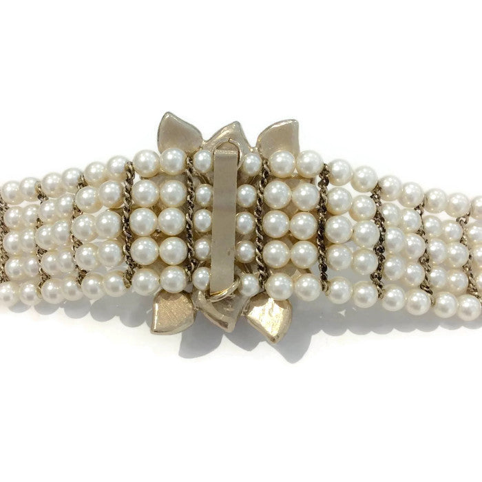 Pearl and Gripoix Belt by Chanel back