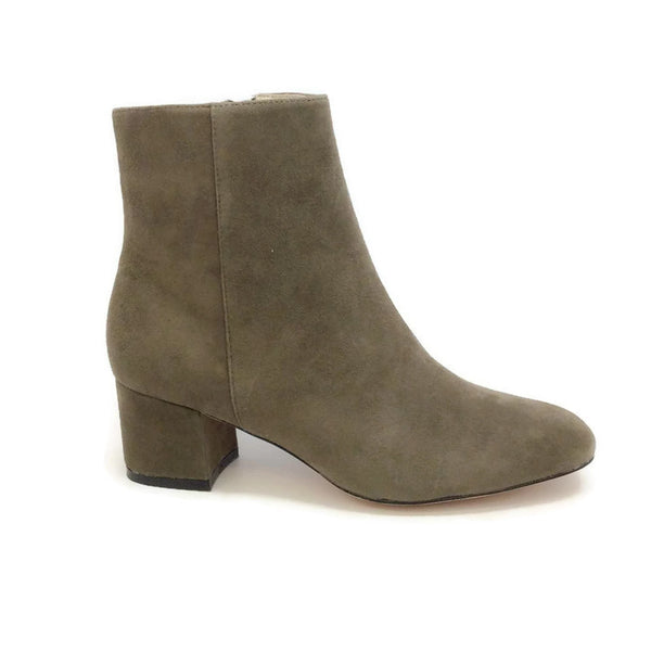 Candid Suede Dark Grey Boots by Bettye Muller outside