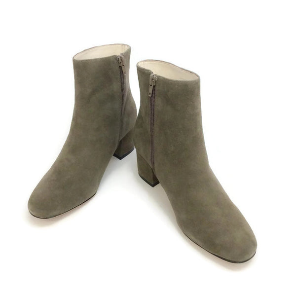 Candid Suede Dark Grey Boots by Bettye Muller pair