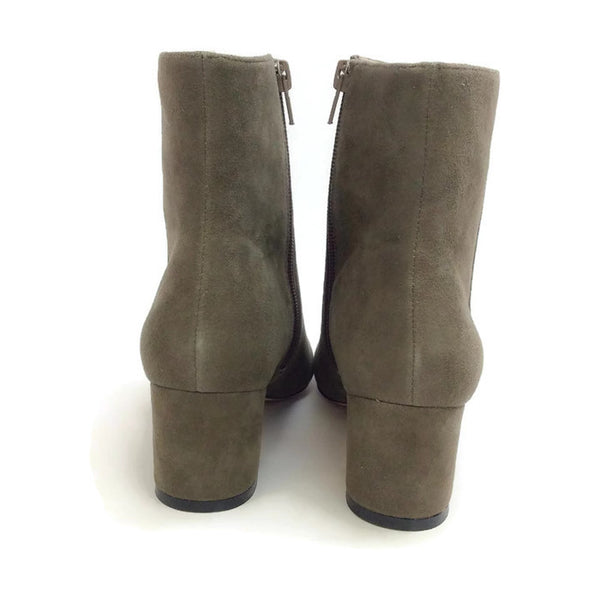 Candid Suede Dark Grey Boots by Bettye Muller back