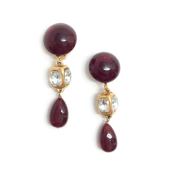 Vintage Late 1980's Gripoix Earrings by Chanel