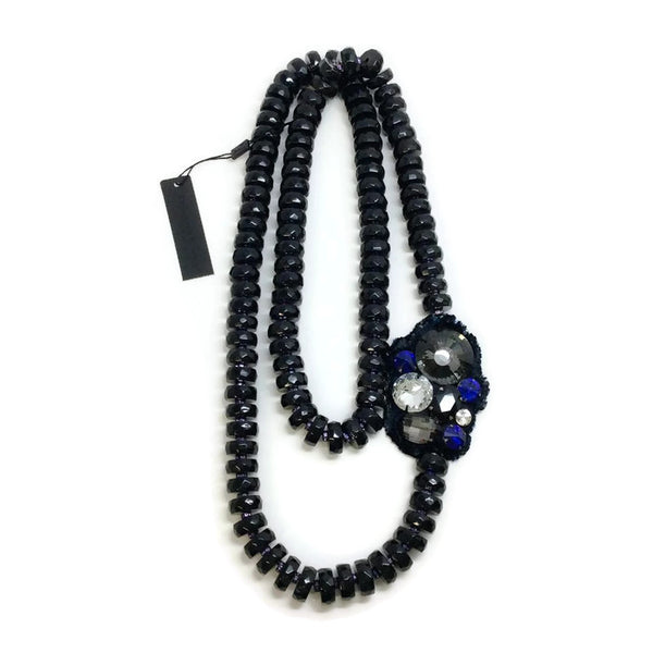 Long Faceted Necklace With Crystals by Donna Karan
