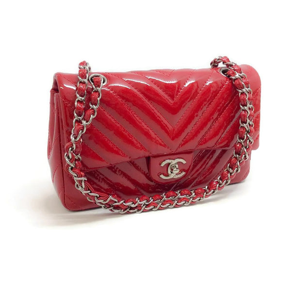 Classic Flap Red Shoulder Bag by Chanel