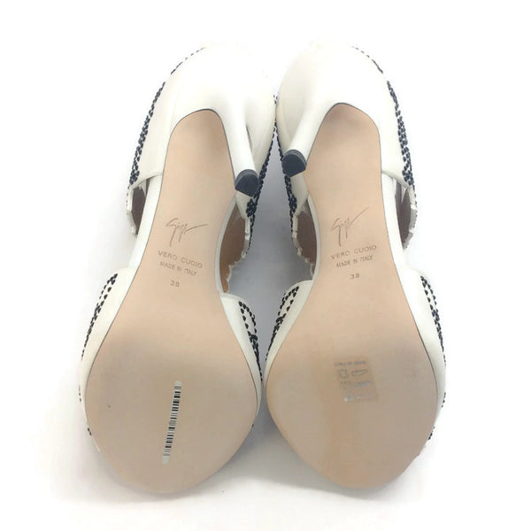 Sandolo Ricamo White Formal Shoes by La Perla