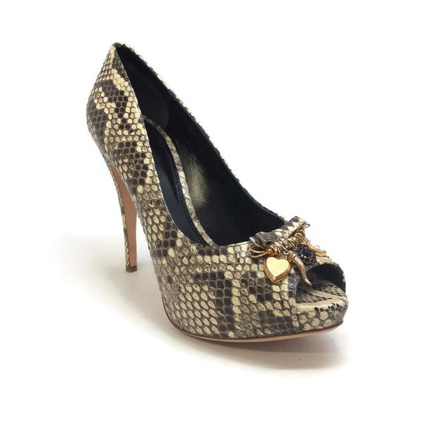 Python Platform Pumps with Charms by Dolce & Gabbana