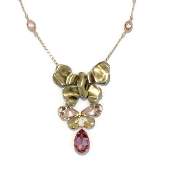 Glass Butterfly Necklace by Nina Ricci front