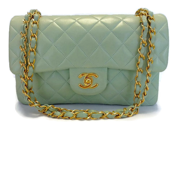 Mint Classic Flap Bag by Chanel