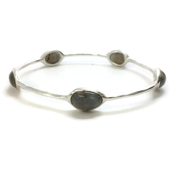 Polished 5 Stone Quartz Bangle