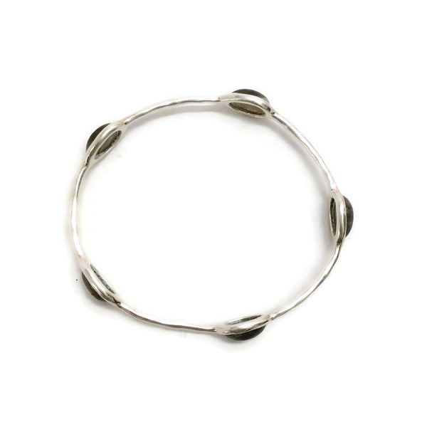 Polished 5 Stone Quartz Bangle top
