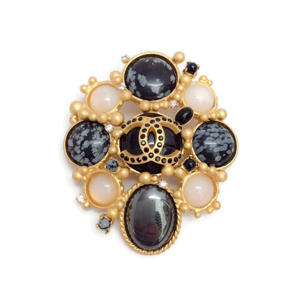 Autumn 2001 Pastel Jeweled Brooch by Chanel