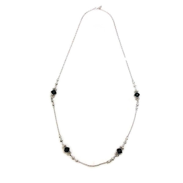 Superstud Doublet Grey Stud-Link Necklace by Stephen Webster