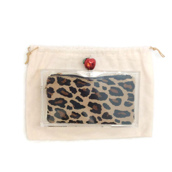 Pandora Apple Clutch by Charlotte Olympia