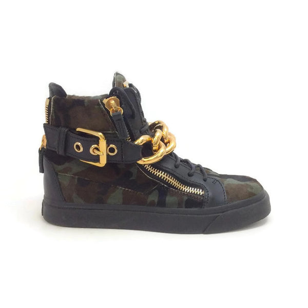 London Pony Hi Top Sneakers by Guiseppe Zanotti outside