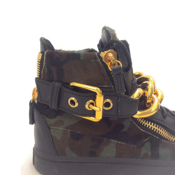 London Pony Hi Top Sneakers by Guiseppe Zanotti detail
