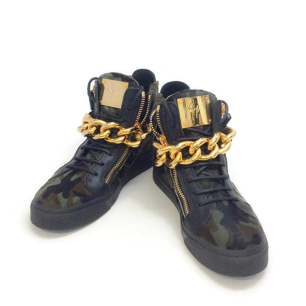 London Pony Hi Top Sneakers by Guiseppe Zanotti pair