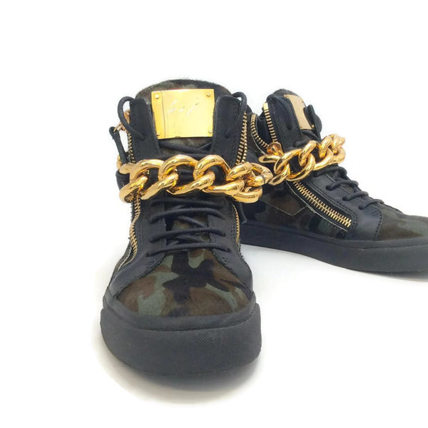 London Pony Hi Top Sneakers by Guiseppe Zanotti front