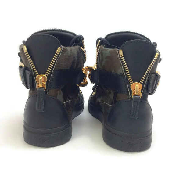 London Pony Hi Top Sneakers by Guiseppe Zanotti back