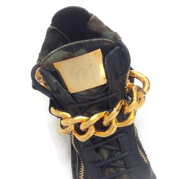 London Pony Hi Top Sneakers by Guiseppe Zanotti hardware