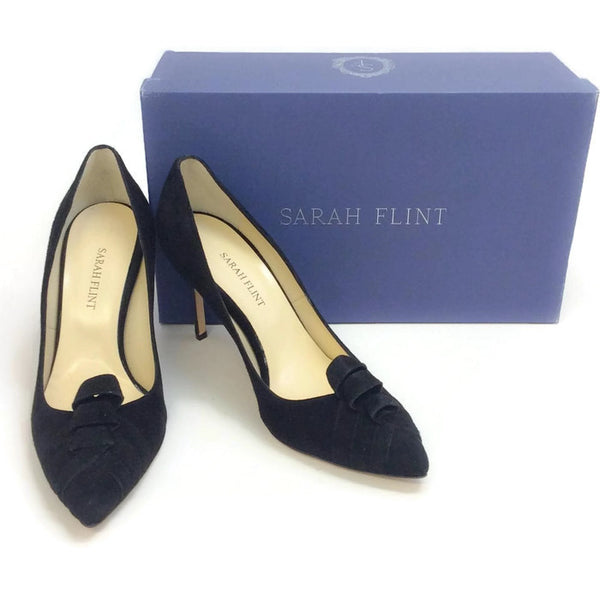 Mariella Black Suede Pumps by Sarah Flint with box