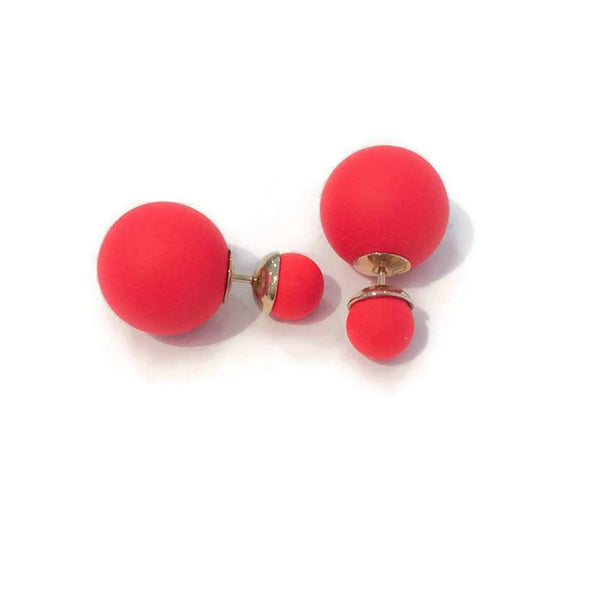 Mise en Dior Tribal Earrings Matte Red by Christian Dior