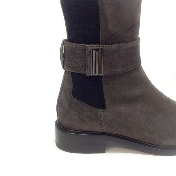 Giada Gray Boots by Aquatalia buckle