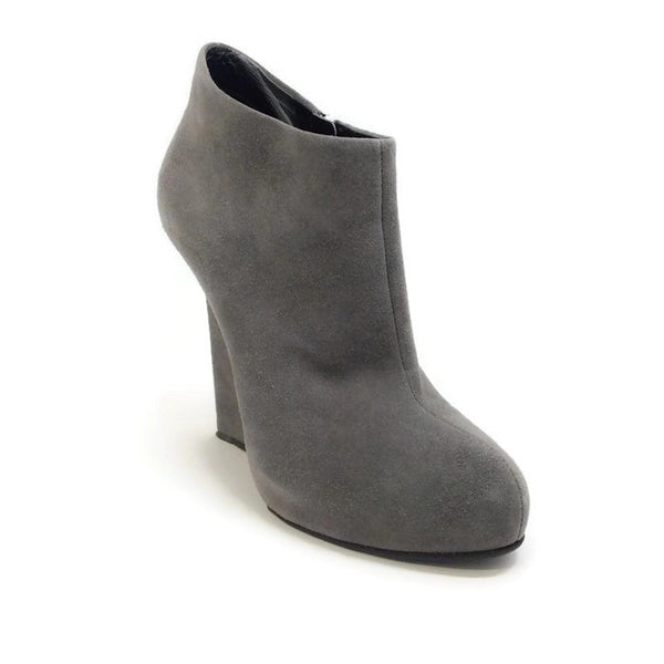 Daisy Gray Suede Booties by Giuseppe Zanotti