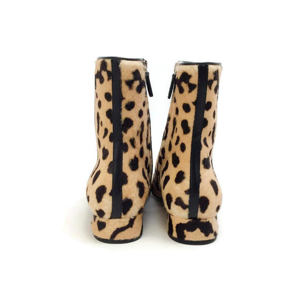 Lillian Horsebit Pony Leopard Booties by Gucci back