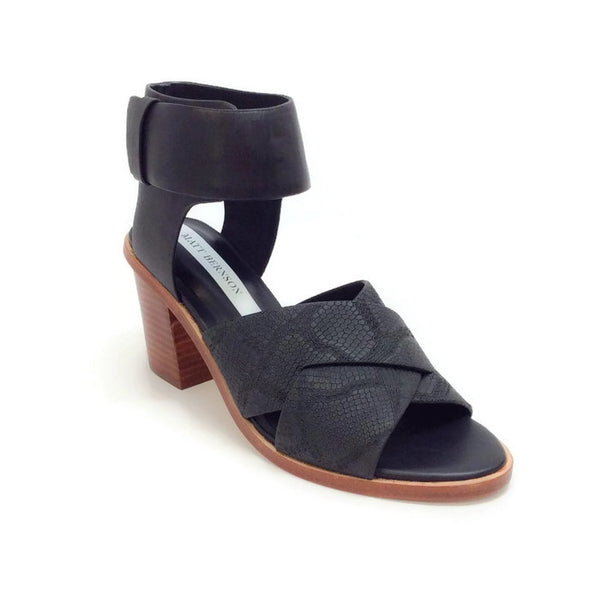 Dia Heel Black Sandals by Matt Bernson