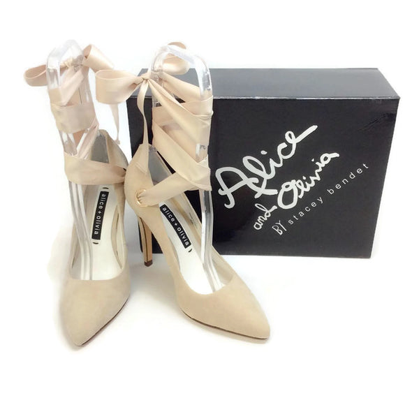 Dominique Tan Pumps by alice + olivia with box