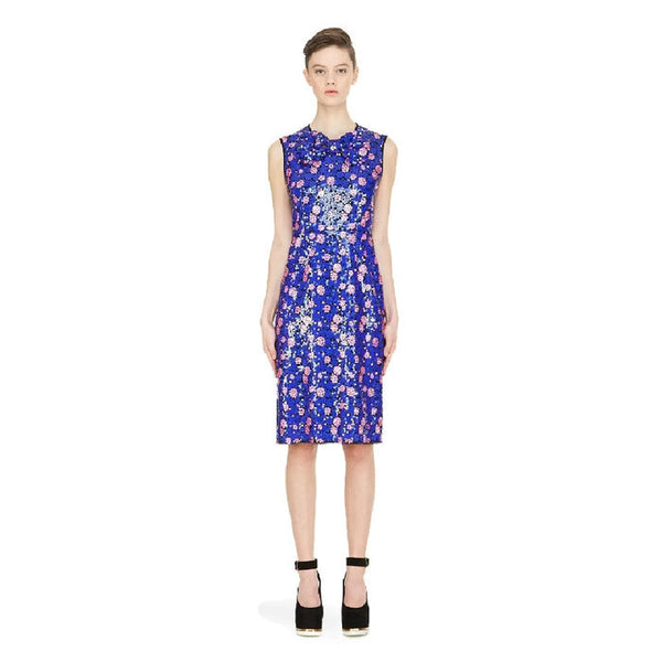 Royal Blue Sequin Bow Dress by Marc Jacobs