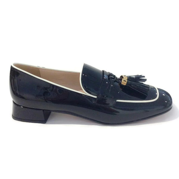 Black Tassel Loafer Flats by Prada exterior