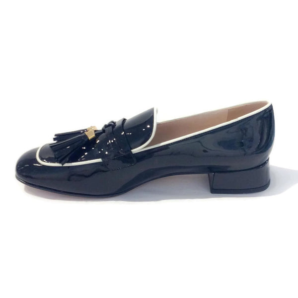 Black Tassel Loafer Flats by Prada interior